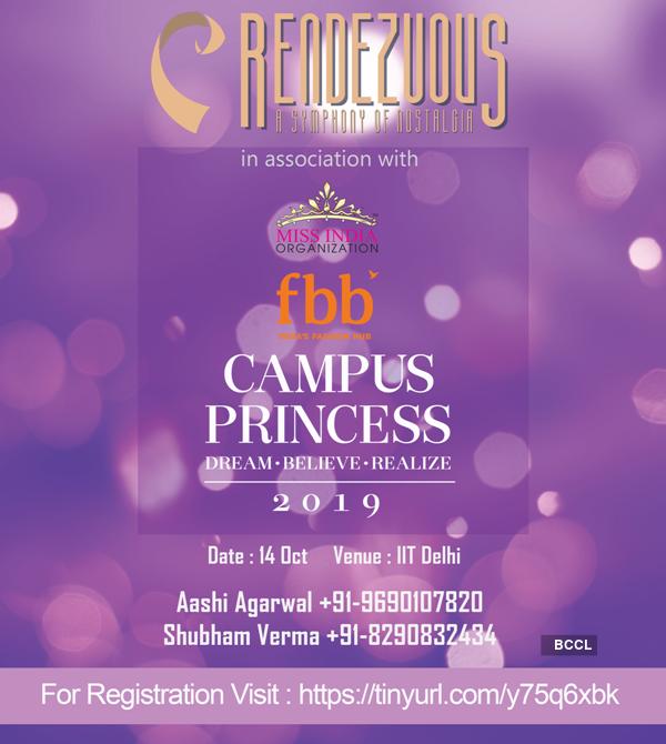 fbb Campus Princess 2019 auditions in Rendevouz Delhi