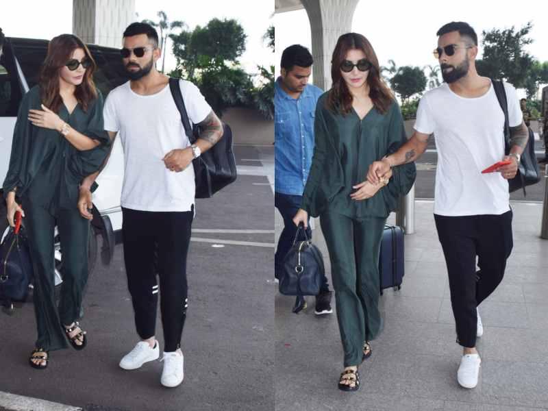 Photos Anushka Sharma And Hubby Virat Kohli Arrive At The