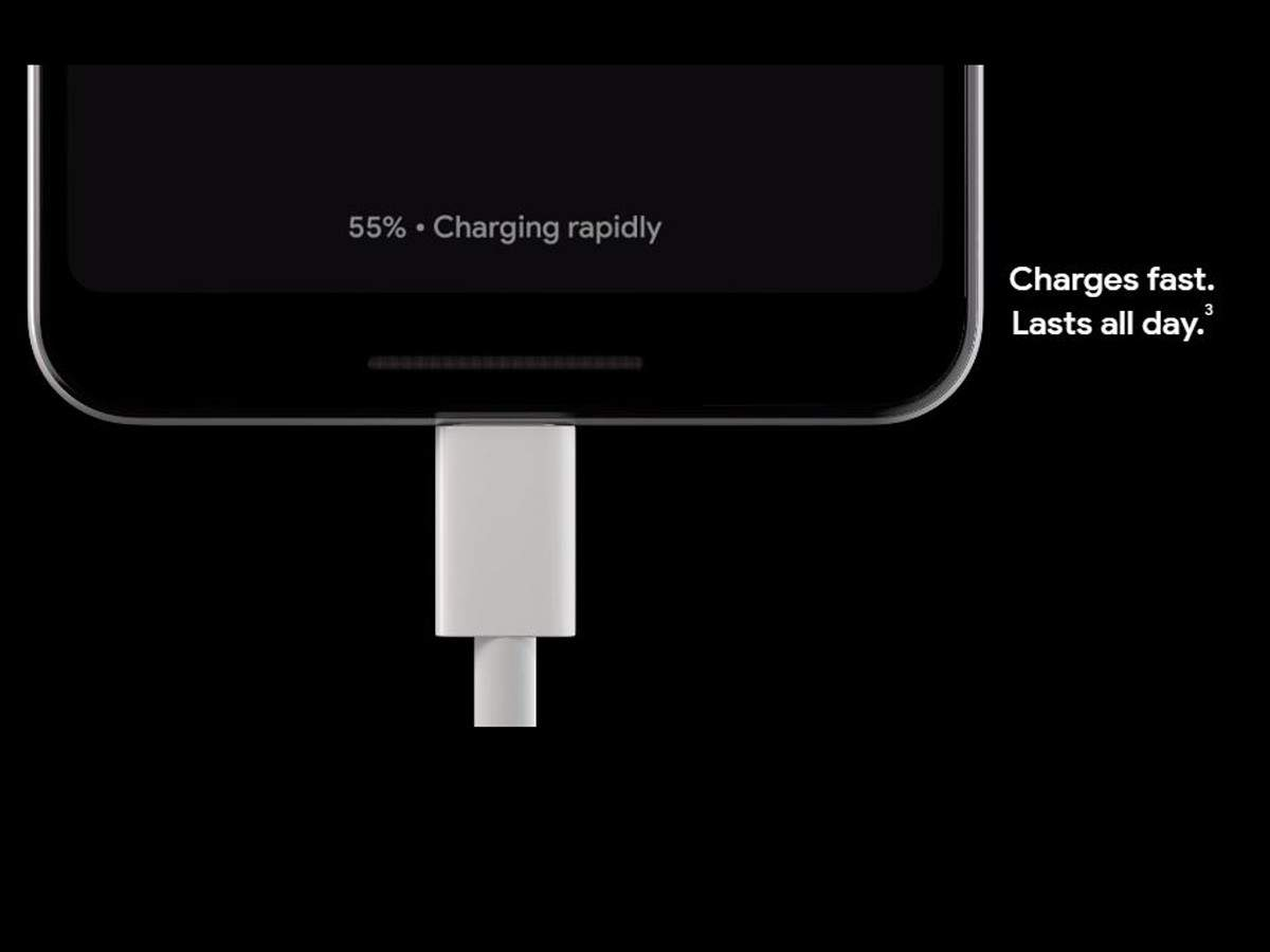 The new Pixel 3 smartphones come with an 18 Watt fast charger in the box, which claims to offer 7 hours of battery in 15 minutes of charge.