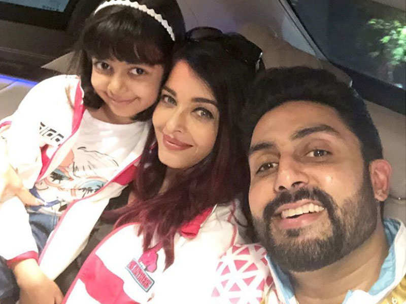Abhishek Bachchan, Aishwarya and Aaradhya come together for a cute ...