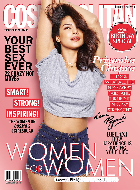 Global Icon Priyanka Chopra rocks the cover of a leading magazine, encourages the spirit of sisterhood