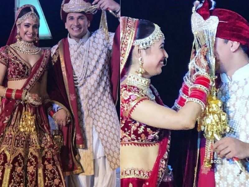 Yuvika Chaudhary and Prince Narula make for a royal couple at their wedding  | The Times of India