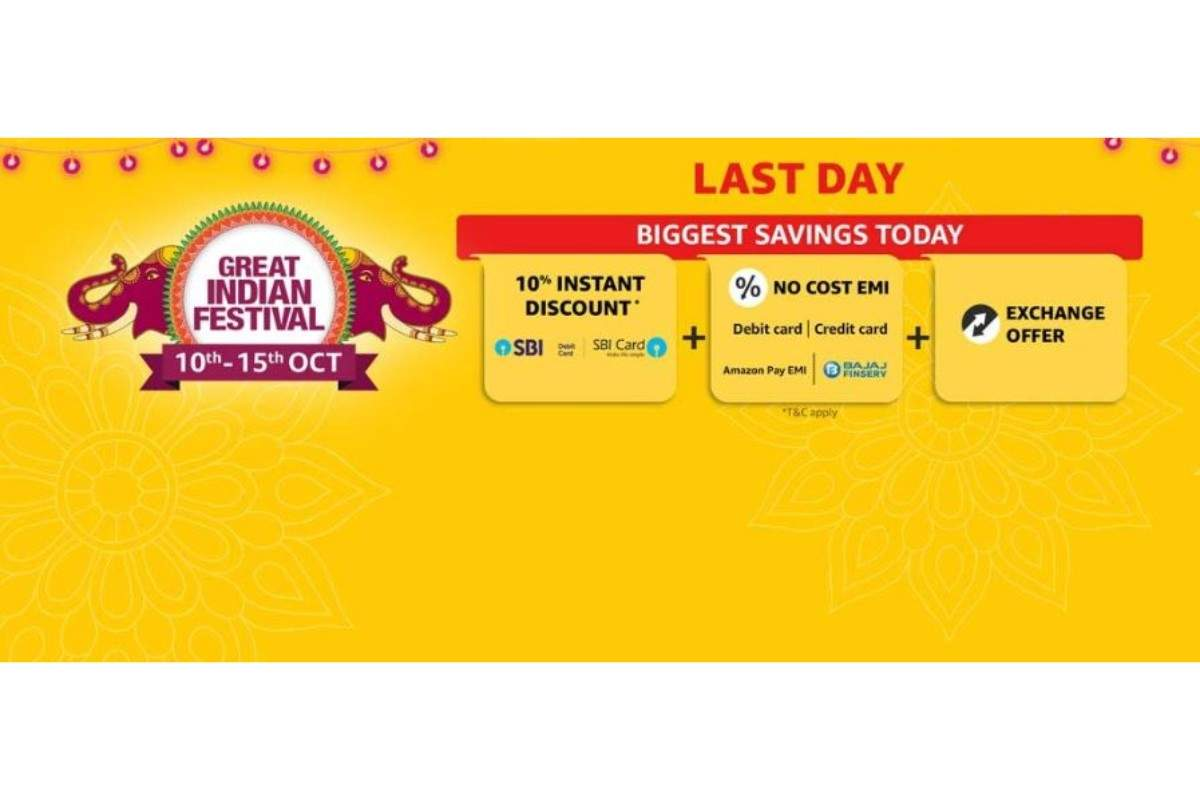 Last day of Amazon Great Indian sale: Smartphones, sperakers, earphones and TVs available at minimum 40% discount