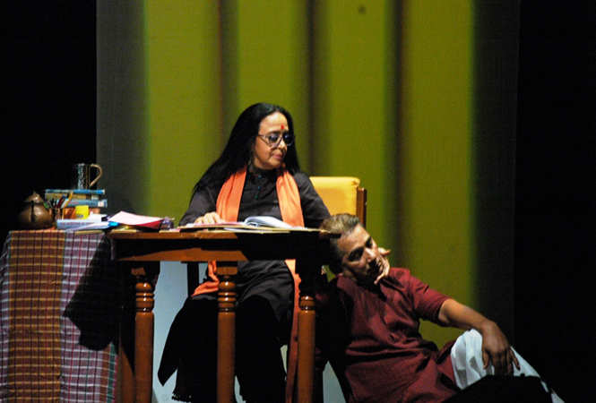 Ila Arun and Varun Badola who played Dr Dharamvir Bharati