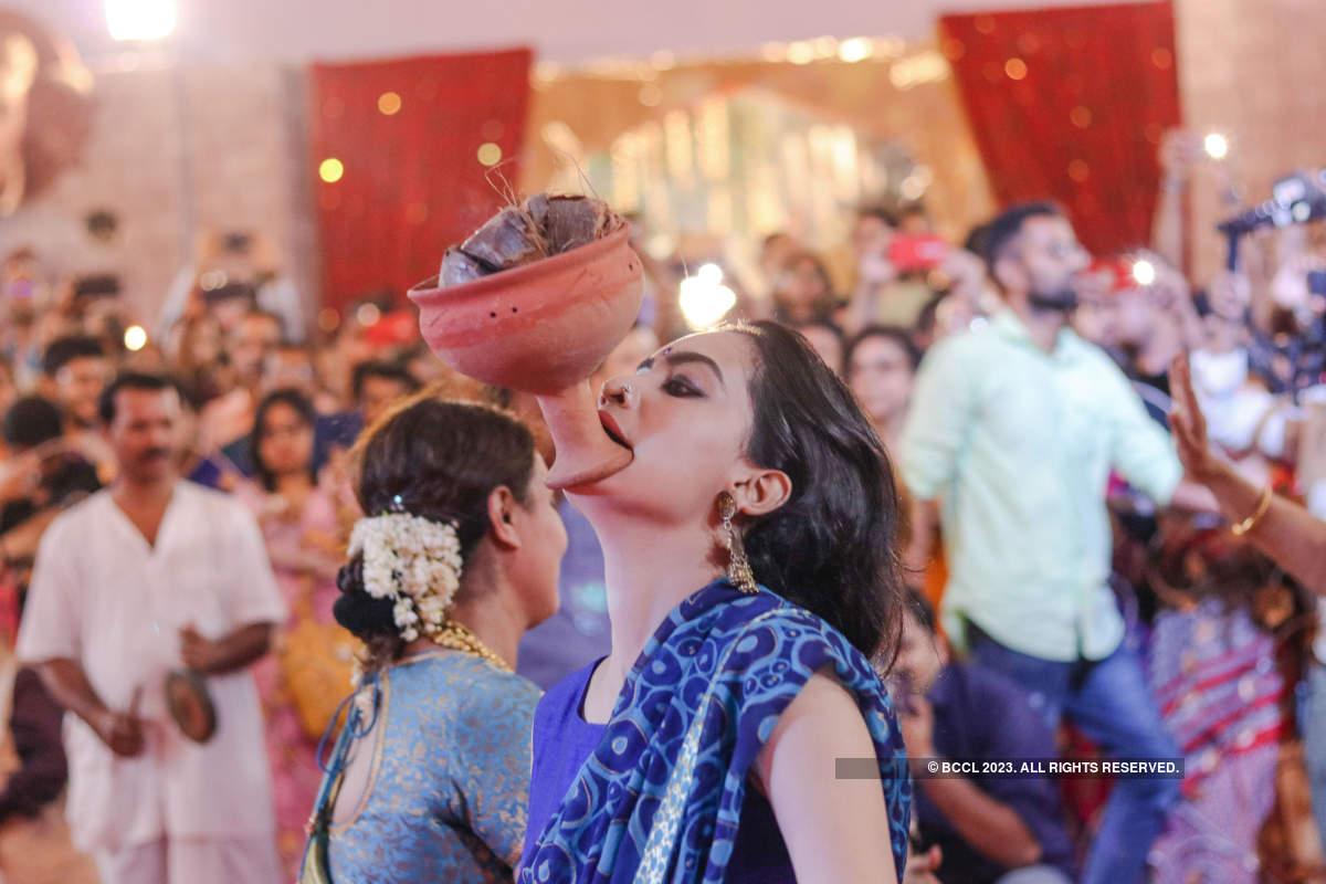 B-Town celebs soak in Durga Puja festivities