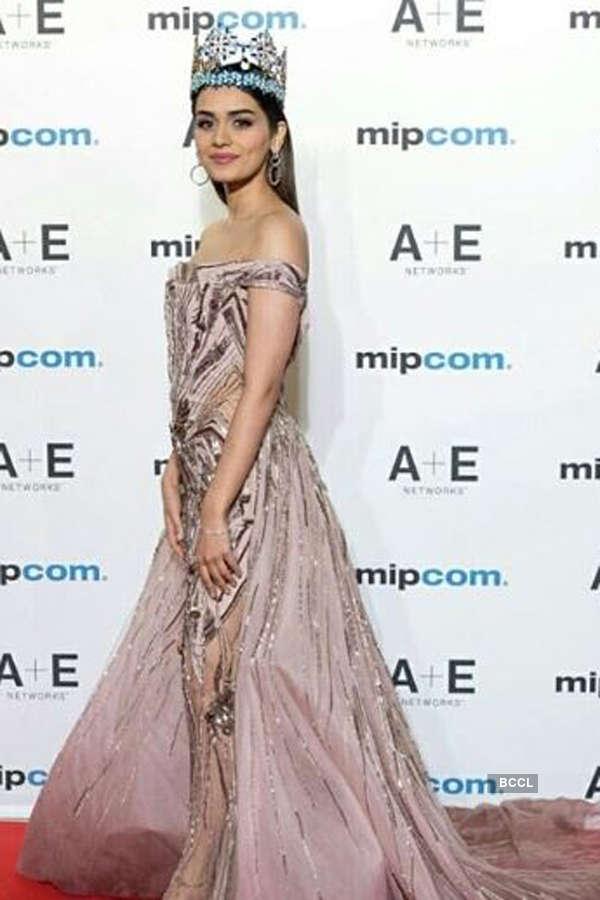 Manushi Chhillar attends MIPCOM 2018 in Cannes