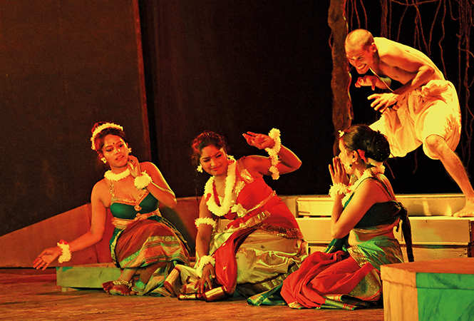 A scene from the play Bhagwat Ajjukam (BCCL/ Unmesh Pandey)