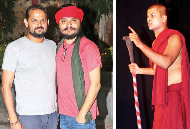 (L) Arpit Shidhore and Ujjwal Pandey (R) Punit Singh on stage (BCCL/ Unmesh Pandey)