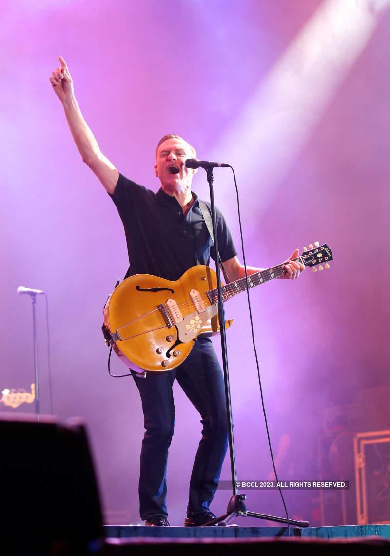 Bryan Adams performs live in Ahmedabad
