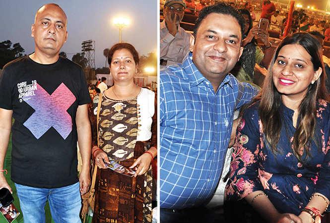 (L) Sahil and Bandana (R) Shailendra and Somya (BCCL/ AS Rathor)