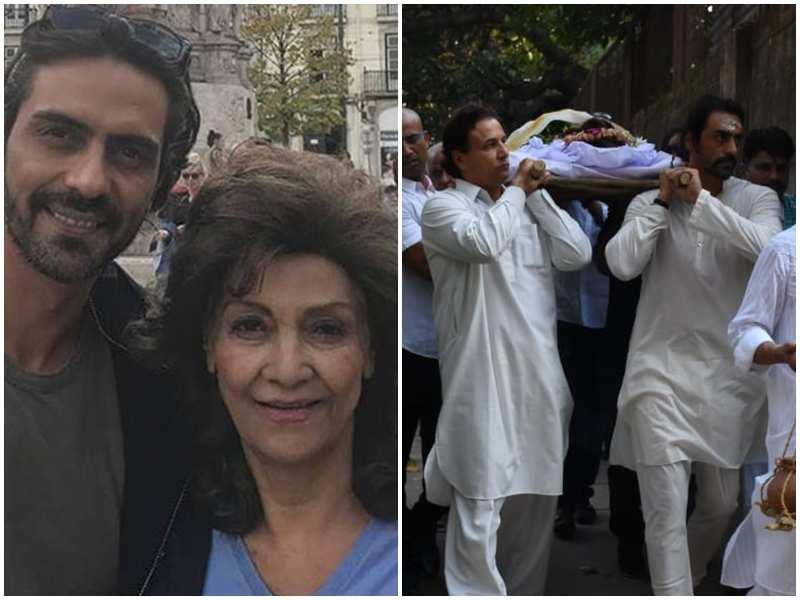 Arjun Rampal's mother passes away; ex-wife Mehr Jesia, rumoured girlfriend Gabriella Demetriades attend last rites