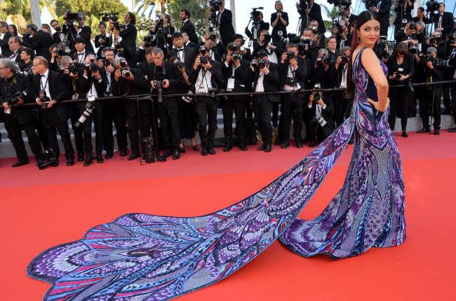 Aishwarya purple gown