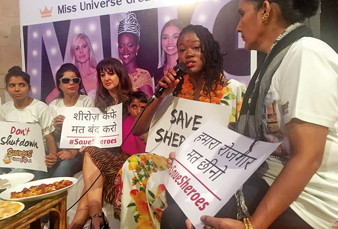 Dee Ann rendered support to acid attack survivors in their quest to save their cafe from being closed down (BCCL)