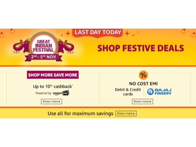 Amazon Great Indian Sale last day: Smartphones, headphones, speakers and TVs at up to 60% discount
