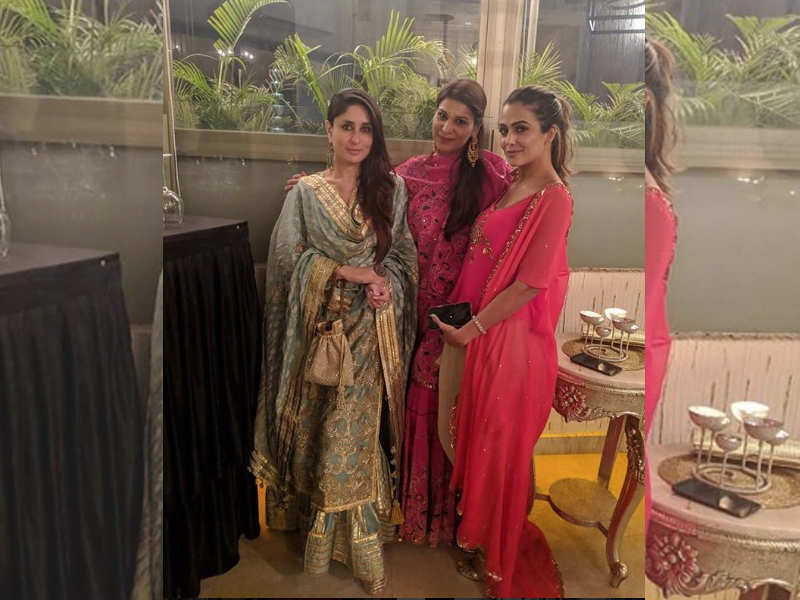 Kareena Kapoor Khan Slays It In Her Traditional Wear As She Poses With Bffs Poonam Damania And Amrita Arora