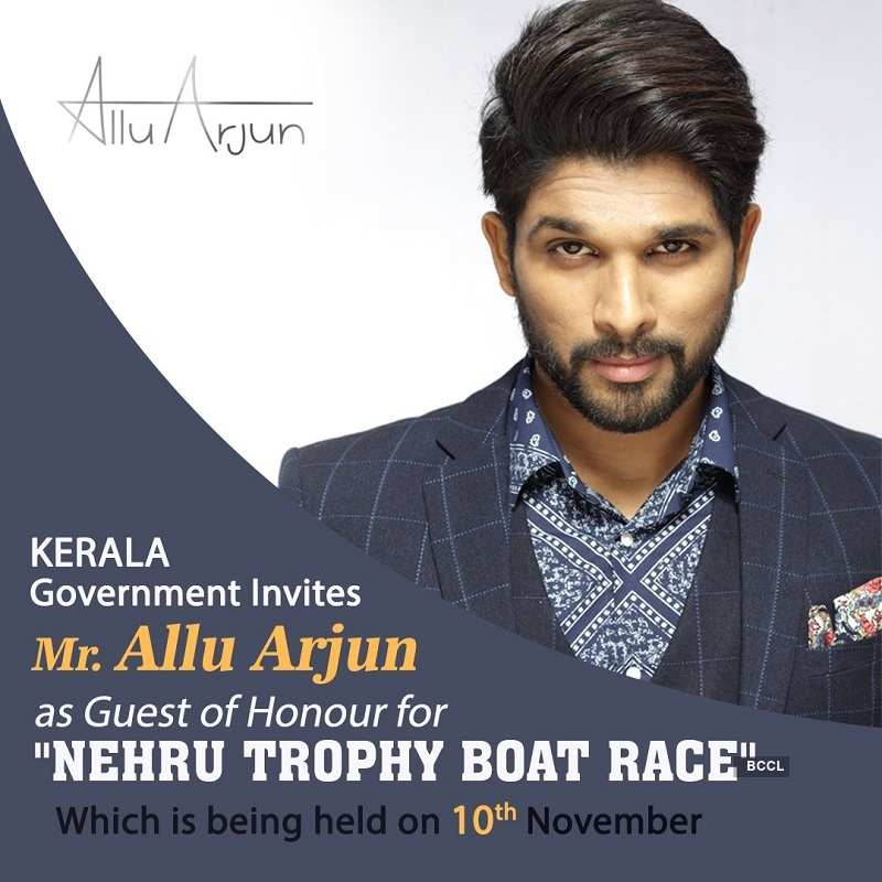 Stylish Star Allu Arjun invited as a guest of honour to Kerala