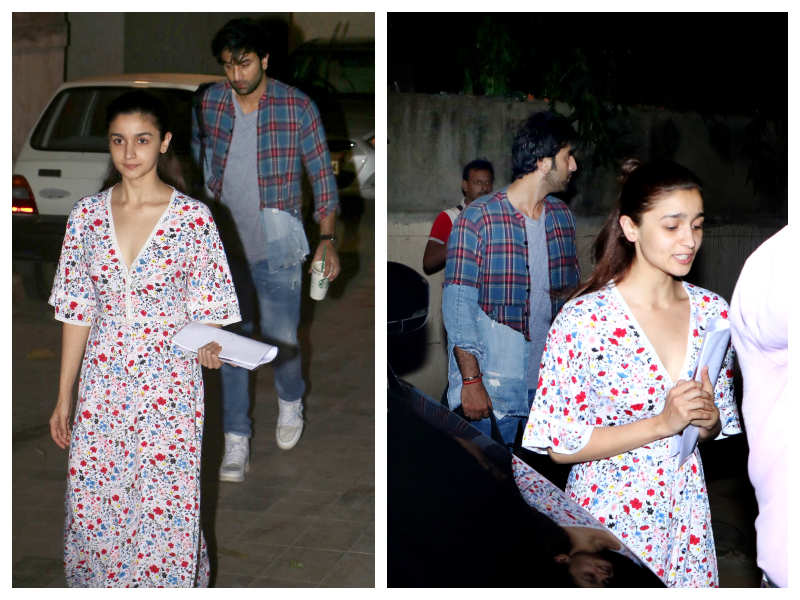 Alia Bhatt And Ranbir Kapoor Snapped After Their Dance Class