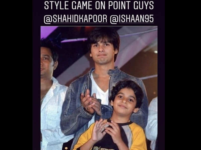 Mira Rajput shares a throwback picture of Shahid Kapoor and Ishaan Khatter - Bollywood celebs: Then and now  | The Times of India