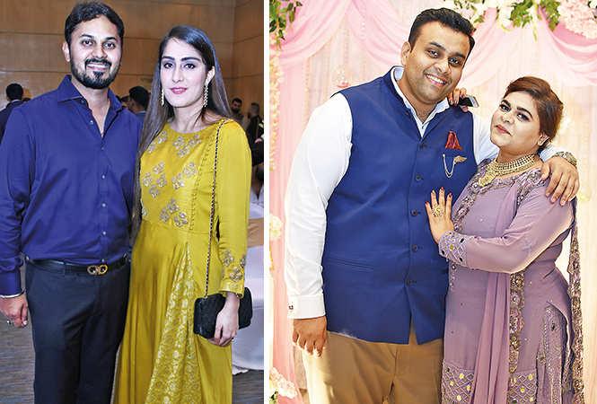 (L) Shivam and Nikita (R) Vrashank and Yoshita (BCCL/ Farhan Ahmad Siddiqui)