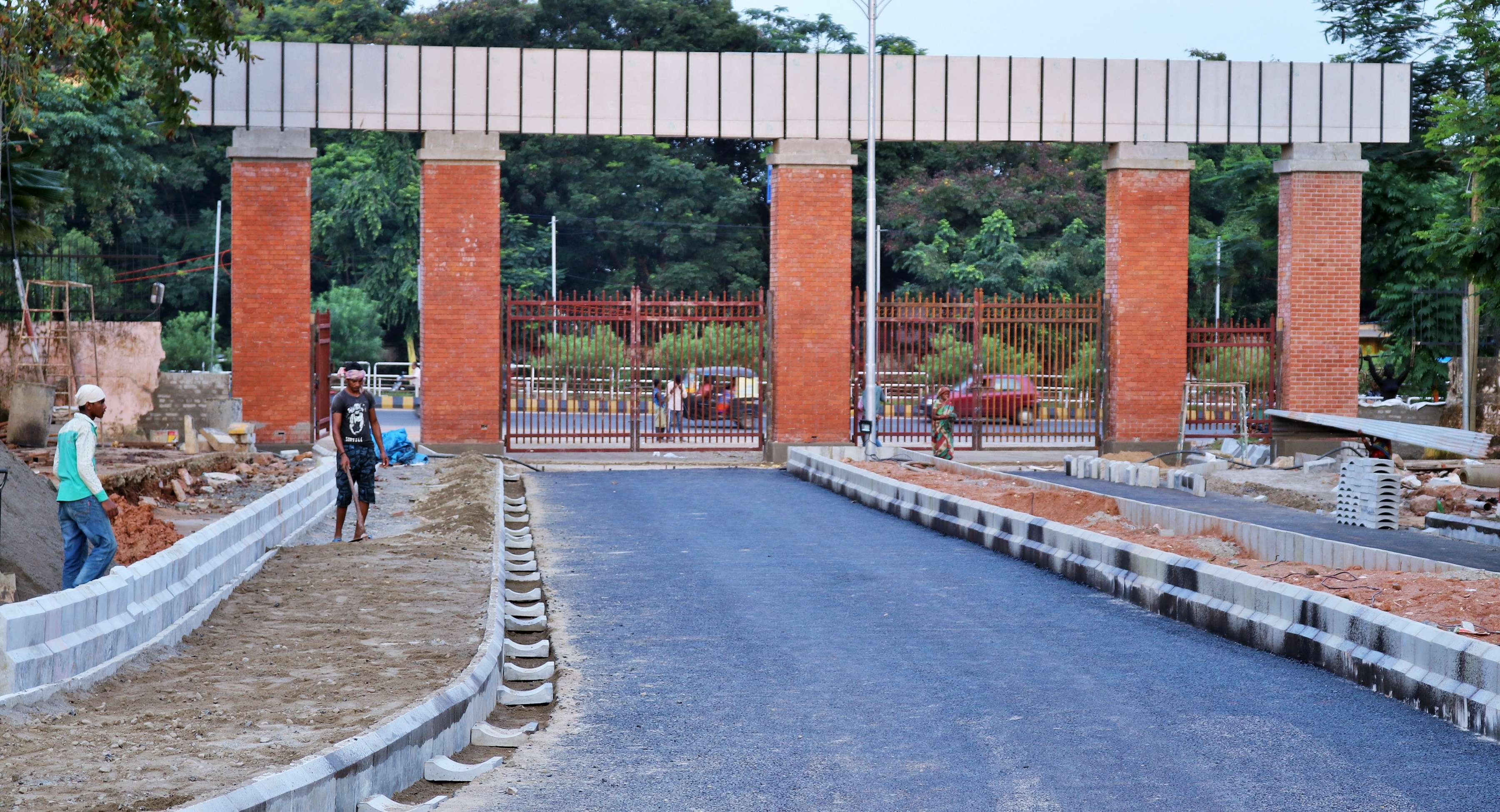 gate and road into the stadium repaired - Copy