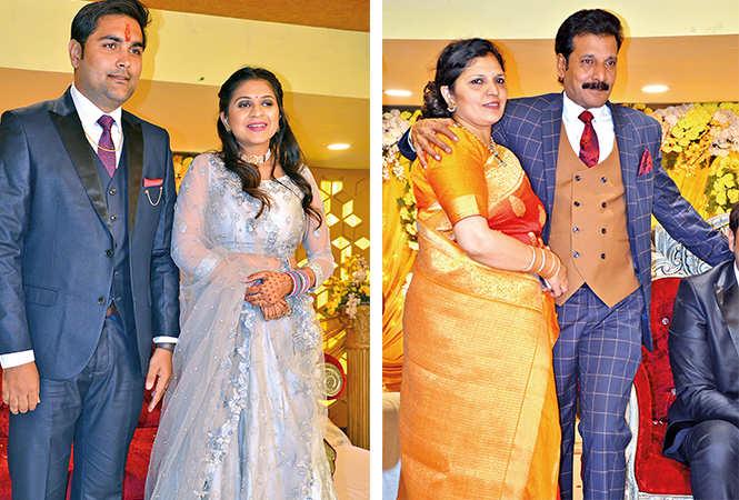 (L) Manish and Chahat (R) Manoj Jain and Mona Jain (BCCL/ IB Singh)