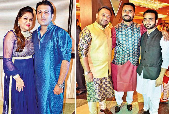 (L) Garima and Kishore (R) Gaurav, Nitesh and Fahimul (BCCL/ IB Singh)