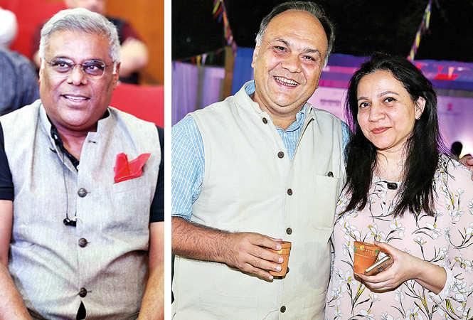 Ashish Vidyarthi, Faisal and Tazeen Hussain at LLF (BCCL/ Aditya Yadav)