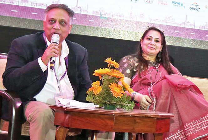 Jaideep Mathur and Vandana Sehgal at LLF (BCCL/ Aditya Yadav)