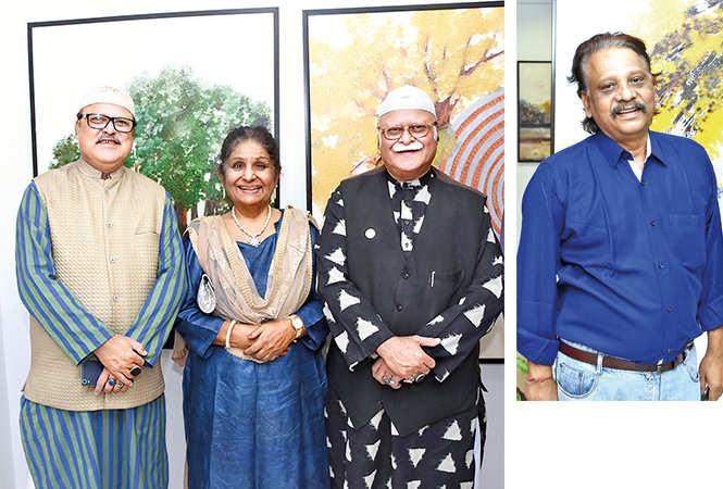 (L) Nawab Jafar Mir Abdullah, Prof Sabra Habib and Nawab Masood Abdullah (R) Premendra Srivastava (BCCL/ Farhan Ahmad Siddiqui)
