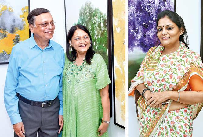(L) Rajesh and Anita Narain (R) Vidhi Bhargava (BCCL/ Farhan Ahmad Siddiqui)