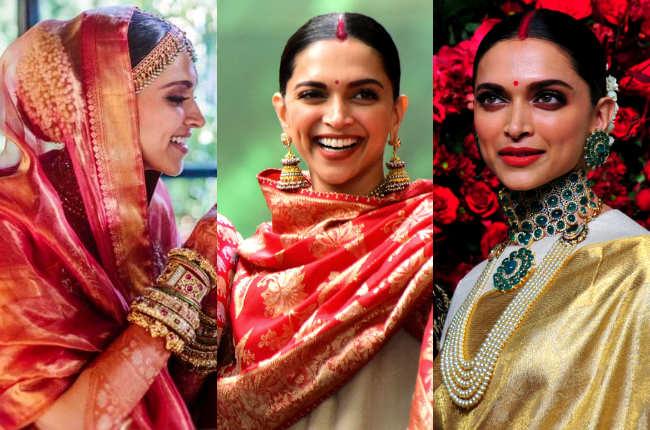 Deepika Padukone's bridal hair