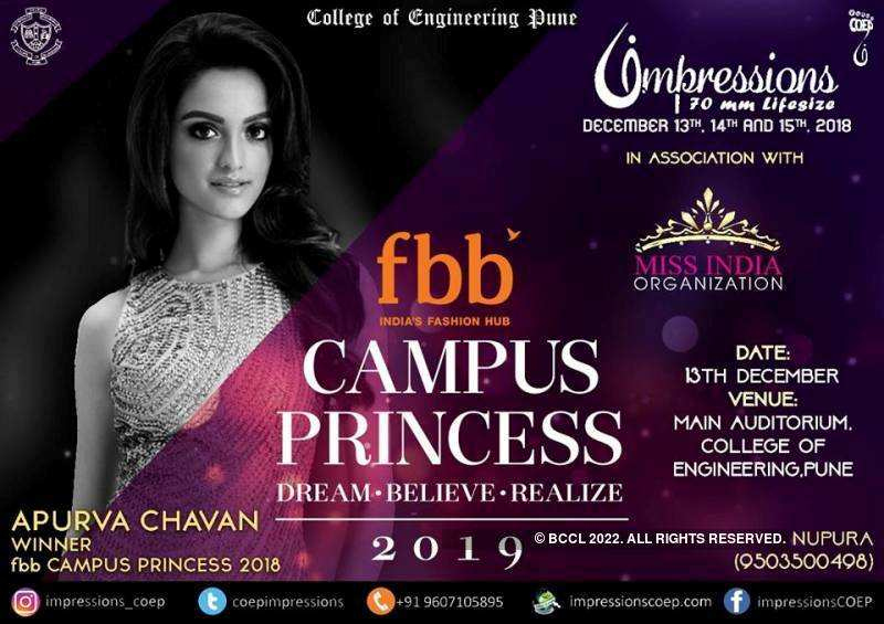 fbb Campus Princess 2019 Auditions in Impressions, Pune