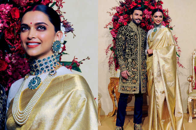 Deepika Padukone wedding saris