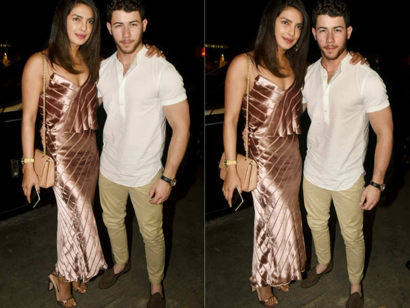 ... Priyanka Chopra and Nick Jonas have been spotted for a pre-wedding  dinner at a restaurant in Juhu b8204669c