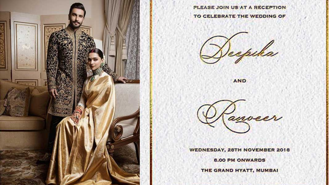 Deepika Padukone-Ranveer Singh wedding reception: All you need to know