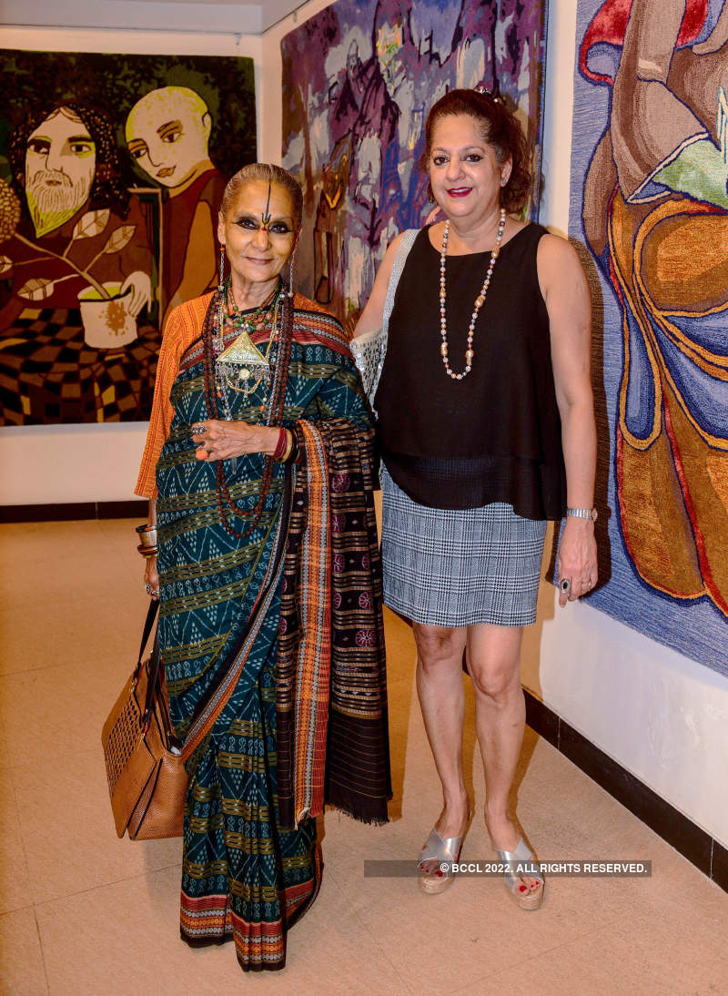 Bollywood celebrities and socialites attend art exhibition 'Breaking Barriers'