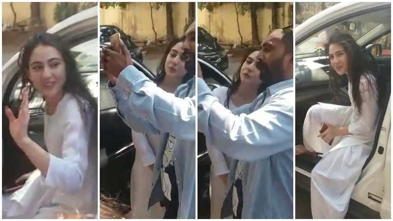 Sara Ali Khan steps out of car to get clicked with fan