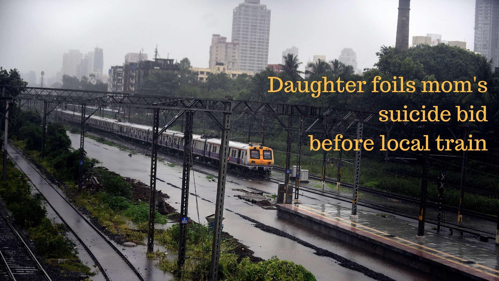 Watch: Daughter foils mother's suicide bid before Mumbai local train