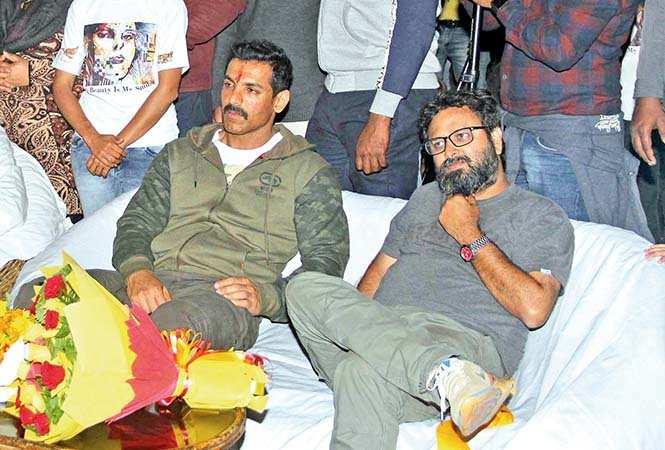 John Abraham (L) and Nikkhil Advani at the event (BCCL/ Aditya Yadav)