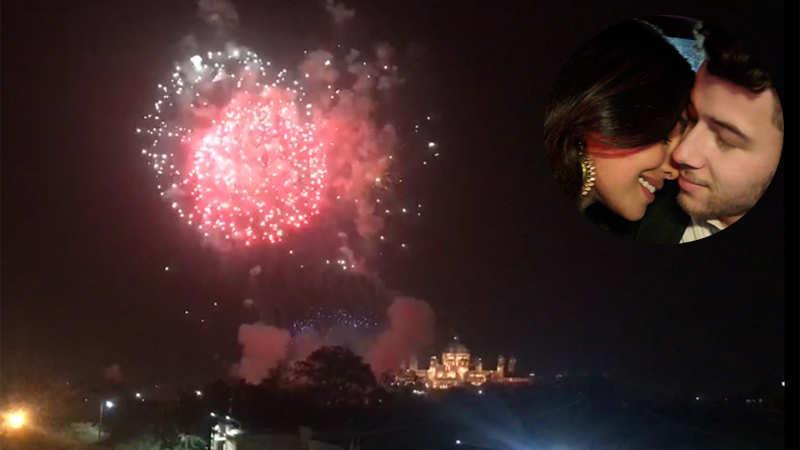 Fireworks at Umaid Bhawan Palace for Priyanka Chopra and Nick Jonas wedding