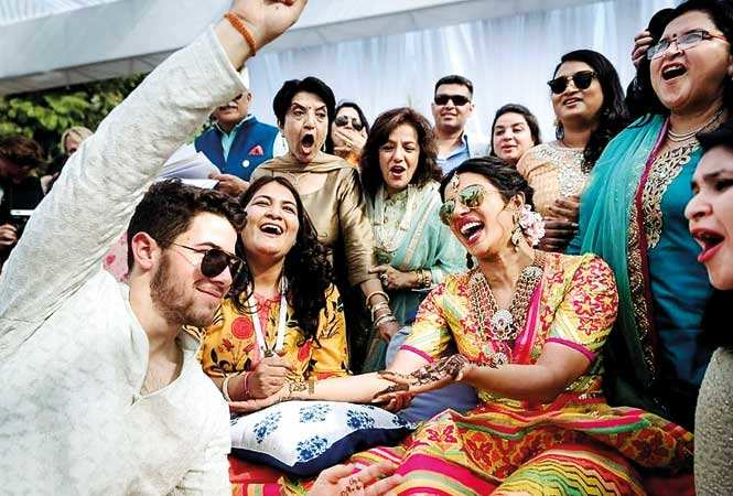 Nick Jonas and Priyanka Chopra's mehendi ceremony was all about fun and laughter
