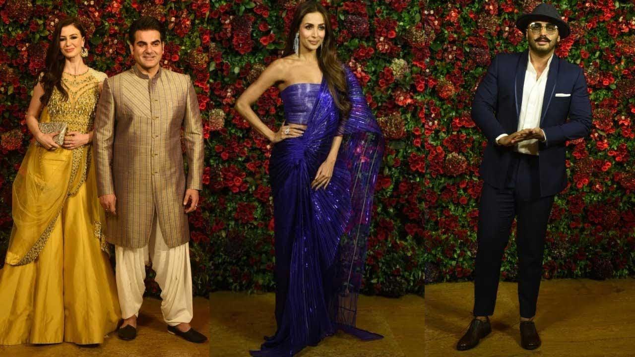 Malaika Arora-Arjun Kapoor bump into Arbaaz Khan at Deepika Padukone-Ranveer Singh's reception