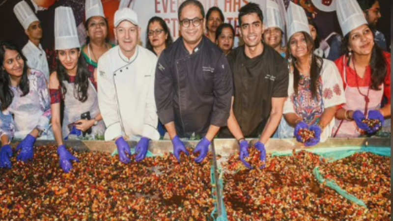 Chef Rahul Dhavale talks about traditional cake-mixing event