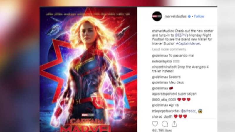 Marvel Studios releases new poster of 'Captain Marvel'