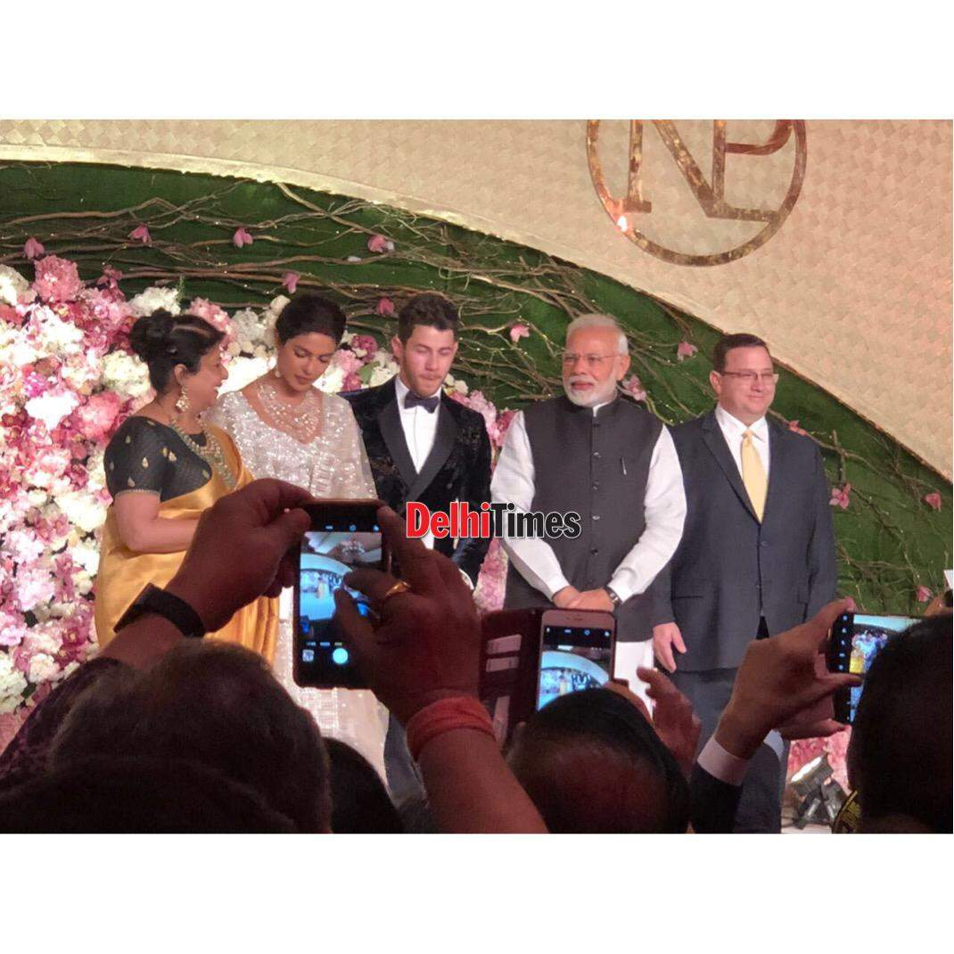 PM Modi at Priyanka Chopra and Nick Jonas wedding reception photos