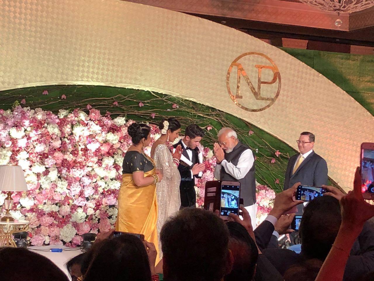 Prime Minister Narendra Modi at Priyanka Chopra and Nick Jonas wedding reception pictures, photos, images, videos