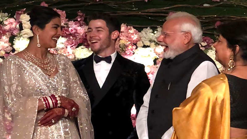 Priyanka Chopra, Nick Jonas wedding reception: PM Modi congratulates couple in Delhi