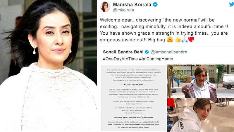Cancer survivor Manisha Koirala welcomes back Sonali Bendre post her treatment in New York