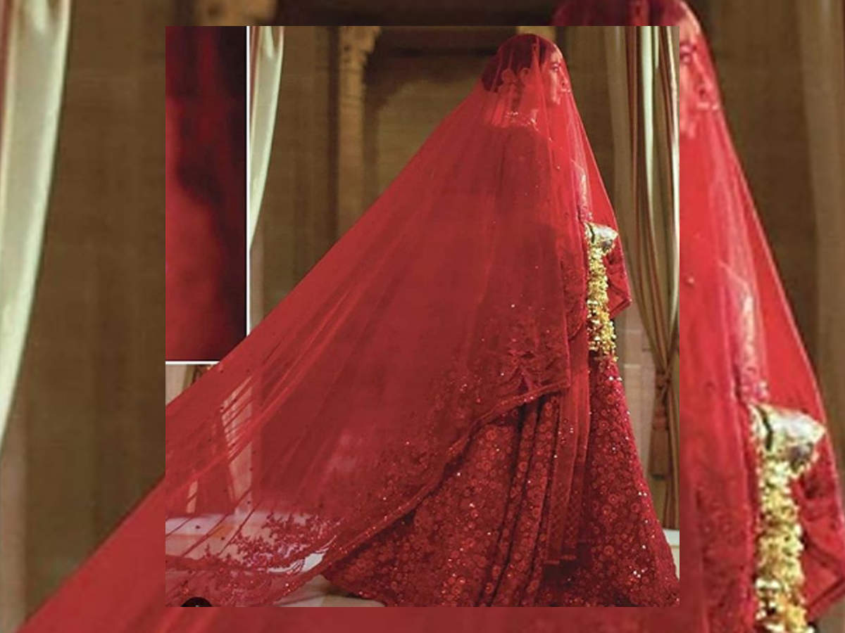 Priyanka Chopra Hindu wedding red lehenga photos