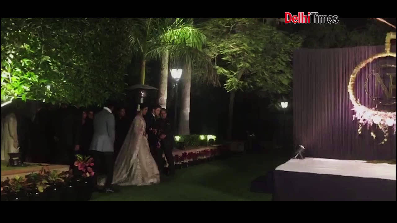 Priyanka Chopra and Nick Jonas' grand reception in Delhi